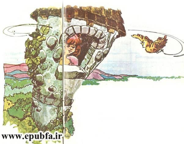 داستان کودکانه راپونزل دختر گیسو کمند زندانی در برج جادوگر (5)