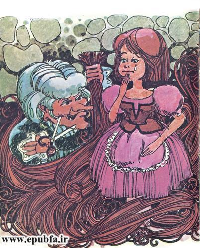 داستان کودکانه راپونزل دختر گیسو کمند زندانی در برج جادوگر (12).jpg