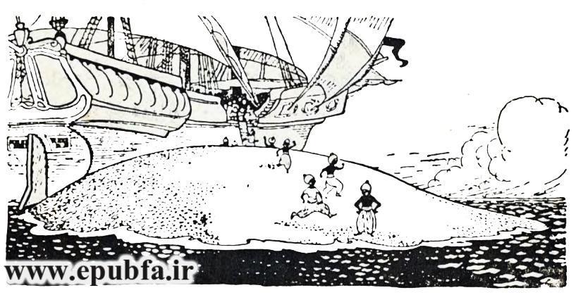 کتاب داستان ماجراهای سندباد بحری، کتاب قصه کودکان از مجموعه کتابهای طلائی در سایت ایپابفا (5).jpg