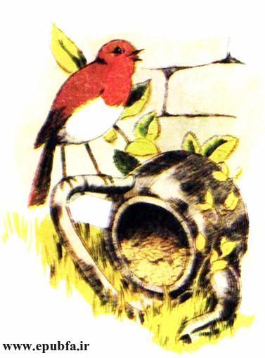 کتاب داستان مصور قدیمی جو پستچی پرنده سینه سرخ برای کودکان ایپابفا (2).jpg