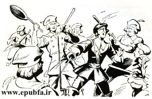 کتاب داستان قدیمی سه تفنگدار الکساندر دوما و کتاب مصور نوجوانان ایپابفا (5).jpg