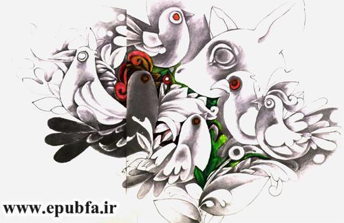 قصه آهو و پرنده ها نوشته نیما یوشیج - کتاب داستان تصویری کودکان و نوجوانان -ایپابفا (4).jpg
