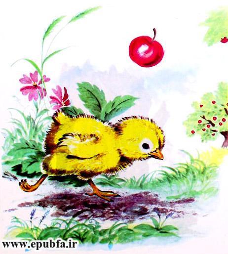 جوجه کوچولو و سیب سرخ-کتاب قصه تصویری کودکان-داستان کودکانه ایپابفا (4).jpg