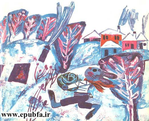 خانهای کوچک درمیان برف-کتاب قصه کودکانه-خرگوش شاد -ایپابفا قصه و داستان