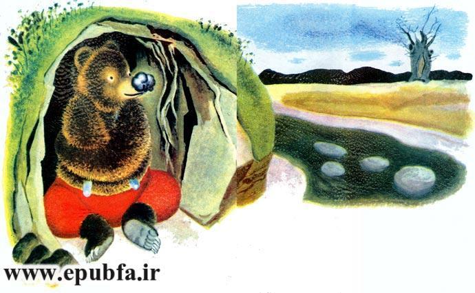 قصه کودکانه خرس دماغ سوخته برای کودکان ایپابفا 9