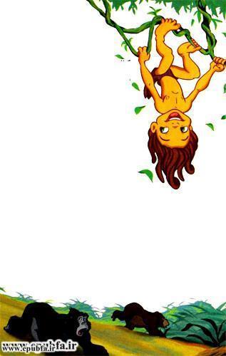 کتاب قصه کودکانه تارزان پسر جنگل برای کودکان و نوجوانان ایپابفا -کودکی تارزان