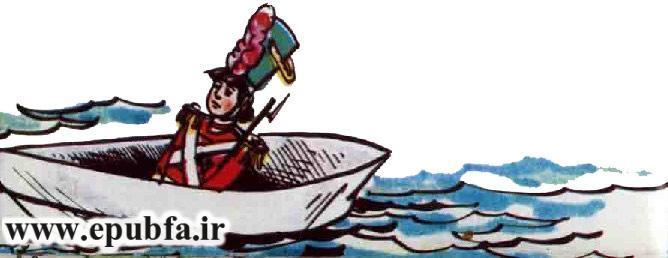 کتاب قصه کودکانه سرباز حلبی - داستان شب برای کودکان -بازافرینی قصه و داستان ایپابفا- سرباز در قایق کاغذی
