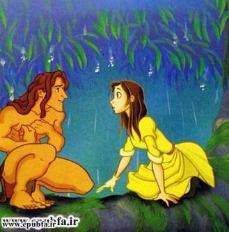 کتاب قصه کودکانه تارزان پسر جنگل برای کودکان و نوجوانان ایپابفا - تارزان عاشق می شود