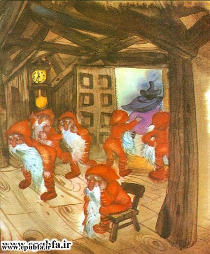کتاب قصه سفیدبرفی و هفت کوتوله رای کودکان -ایپابفا - اندوه کوتوله ها