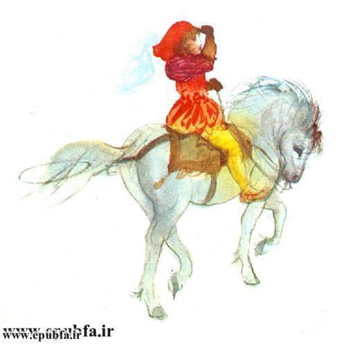کتاب قصه سفیدبرفی و هفت کوتوله رای کودکان -ایپابفا - سوار رویایی با اسب سفید