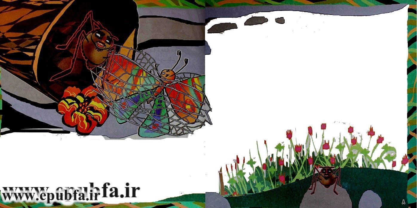 قصه قشنگ و آموزنده «پروانه و عنکبوت» برای کودکان 6