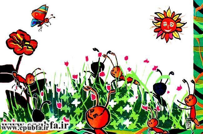 قصه قشنگ و آموزنده «پروانه و عنکبوت» برای کودکان 9