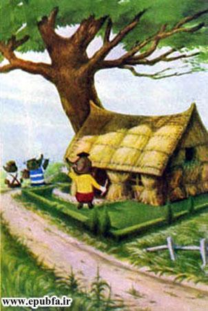 کتاب قصه کودکانه سه بچه فیل - بچه فیل خانه می سازد