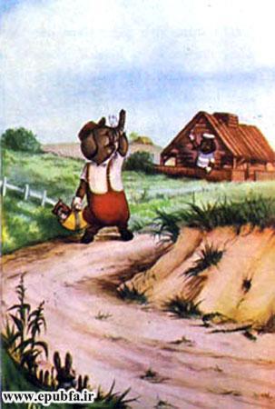کتاب قصه کودکانه سه بچه فیل - بچه فیل خانه چوبی می سازد