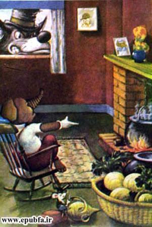 کتاب قصه کودکانه سه بچه فیل - گرگ از دست فیل عصبانی می شود