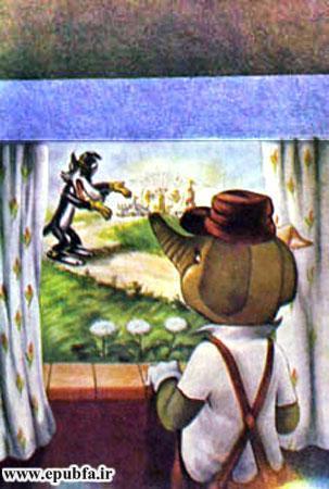 کتاب قصه کودکانه سه بچه فیل - بچه فیل به لب پنجره می آید