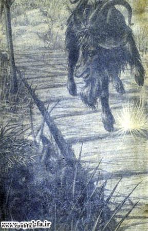 کتاب قصه کودکانه سه بزغاله باهوش - آرشیو قصه و داستان ایپابفا- بز سیاه با شاخ های دراز