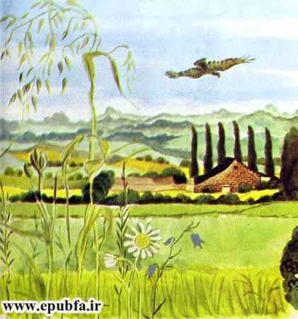 کتاب قصه کودکانه شکست باز-ارشیو قصه و داستان ایپابفا-پرواز عقاب بر فراز مزارع