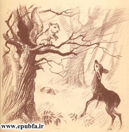 بچه گوزن با سنجاب بداخلاق حرف می زند- آرشیو قصه و داستان ایپابفا