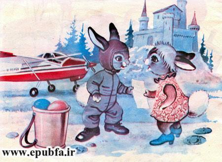 آقا خرگوش سوار هواپیما شد و پرواز کرد- -کتاب قصه کودکانه ماجرای سفر آقا خرگوشه- آرشیو قصه و داستان ایپابفا