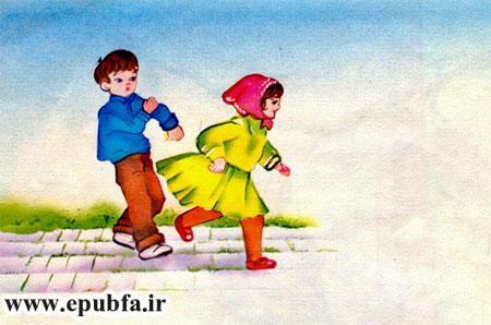 بچه ها دور حیاط می دویدند و بازی می کردند-آرشیو قصه و داستان کودکانه ایپابفا