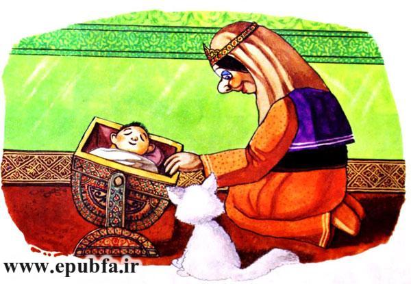 دایه گهواره بچه را تکان می دهد و گربه تماشا می کرد -قصه کودکانه ایپابفا