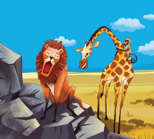 میمون و  زرافه به دیدن شیر وحشی سلطان جنگل رفتند - قصه کودکانه ایپابفا