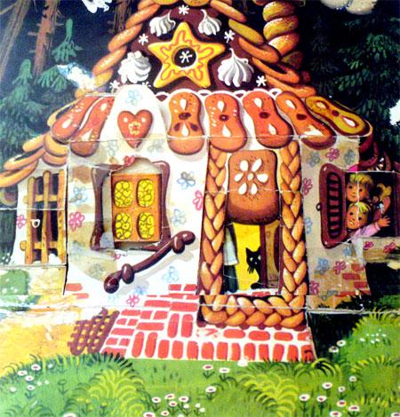 هانسل و گرتل به یک کلبه رسیدند که از جنس شیرینی بود -قصه کودکانه ایپابفا