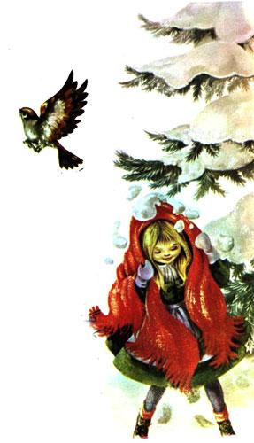 ده ای پرواز کرد و برف روی درخت روی سر دخترک ریخت  -قصه کودکانه ایپابفا