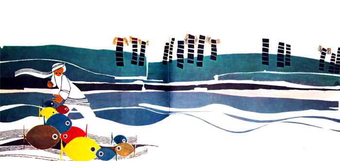 دریا و ساحل و ماهی های رنگارنگ در تور صیاد - قصه کودکانه ایپابفا