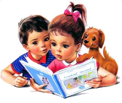 بچه ها در حال کتاب خواندن - ارشیو قصه و داستان ایپابفا