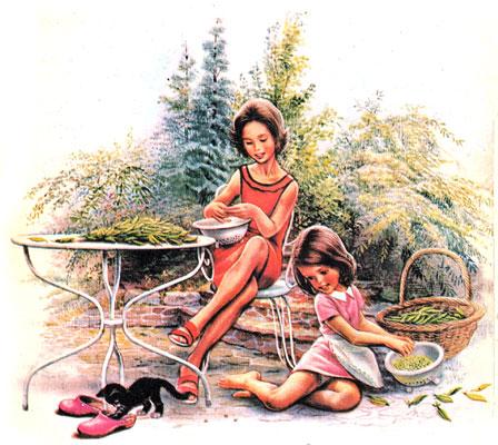 کتاب قصه دخترانه آموزنده مری آشپزی میآموزد - قصه کودکانه ایپابفا