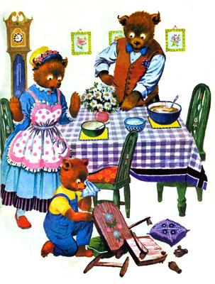 قصه کودکانه موطلایی و سه خرس - ارشیو قصه کودکانه ایپابفا