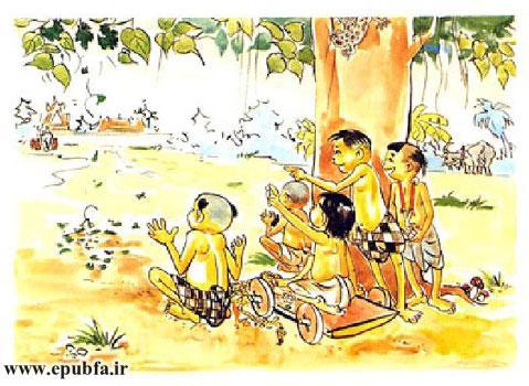 بچهها چارچرخه تائوخام را هل دادند بهطرف یک درخت انجیر هندی