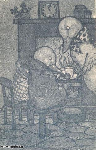 حیوانات یک لیوان قهوه گرم به غاز کوچولو خوراندند