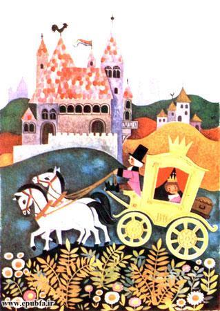 شد شاهزادهی جوان سوار بر کالسکهی خود شد و بهطرف شهرهای اطراف، به حرکت درآمد.