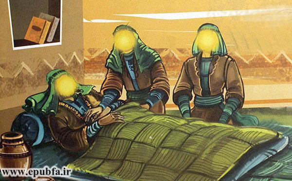 امام حسن (ع) و امام حسین (ع) همراه مردم پدرشان را به خانه بردند و طبیبی بر بالینش آوردند