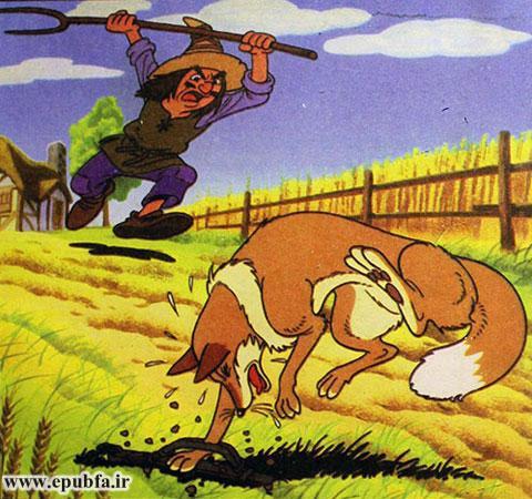 ، ناگهان پایش در تلهای که مرد کشاورز برای روباه گذاشته بود، گیر افتاد.