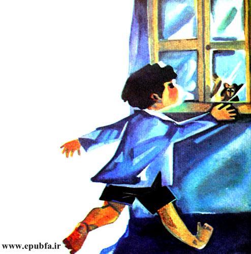 پنجره را که باز کرد سنجاب مادر ناپدید شده بود.